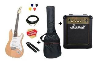 Guitarra Eléctrica Strato Onas Nt + Marshall + Accesorios