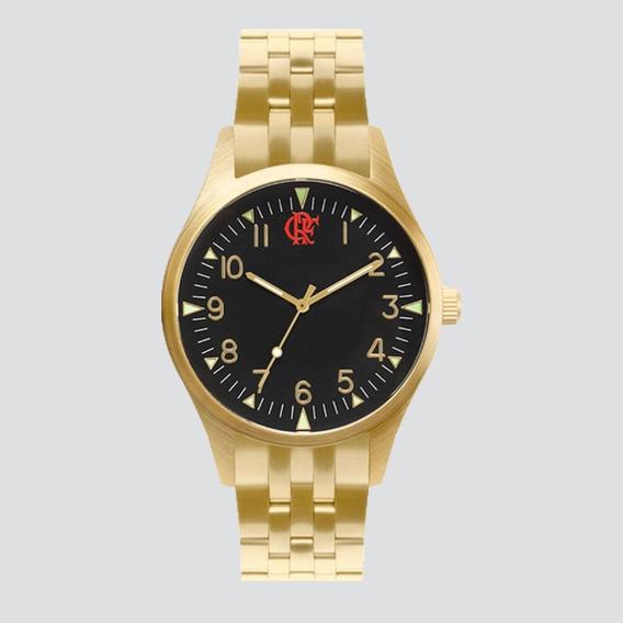 Relógio Technos Flamengo Dourado E Preto