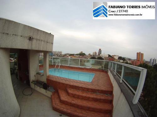 Cobertura Para Venda Em São Bernardo Do Campo, Centro, 3 Dormitórios, 1 Suíte, 2 Banheiros, 3 Vagas - 1377_2-567454