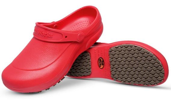 Sapato Bb60 Antiderrapante Médicos Enfermeiros Vermelho
