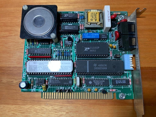 Modem Omnitel Ti1200-pc3 Rev E Isa 8-bit Dual Port
