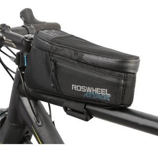 Bolso Roswheel Delantero Impermeable Porta Celular Bicicleta