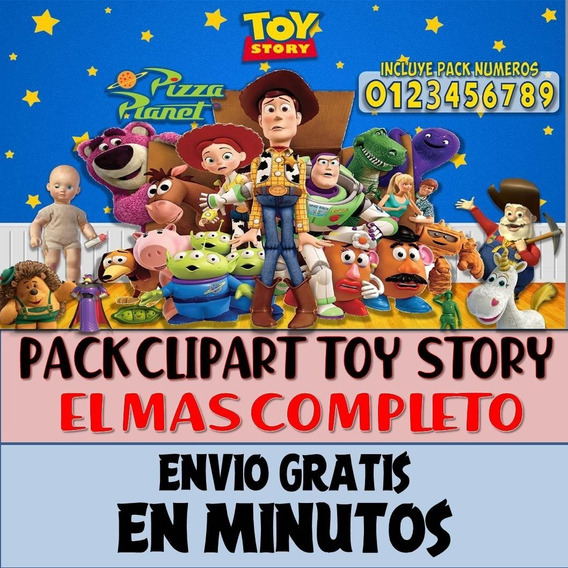 Super Pack Imágenes Clipart Toy Story Woody Buzz + Regalo