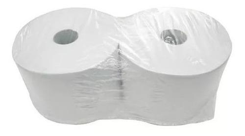 Rollo Bobina Toalla Papel Tissue 24cm X 400m Blanco X 10u.