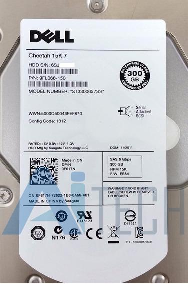 Hd Dell 300gb 15k7 Sas Zero Hora R710 R410 R510 T410 T710 Nf