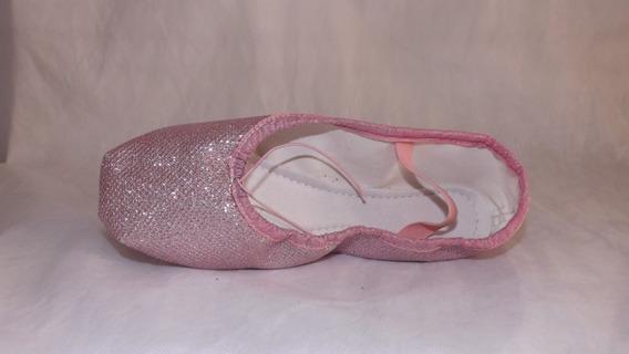 Sapatilhas De Ballet/festas Glitter Rosa