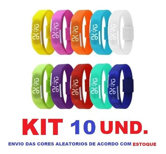 Relógio Pulseira Digital Led Sport Masculino Feminino