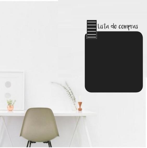 Adesivo Parede Lousa Quadro Negro Escrita Lista Giz 70x56cm