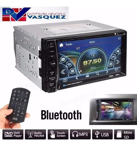 Radio Pantalla Doble Din Touch Bluetoth Mp5 Usb Fm Aux Sd Tv