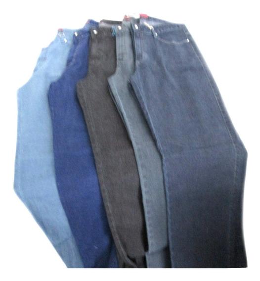 Calça Jeans Feminina Tradicional Com Elastano [ 48 A 56 ]