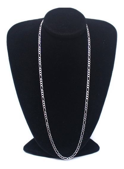 Cordão Prata Cordão Masculina 3x1 Fígaro