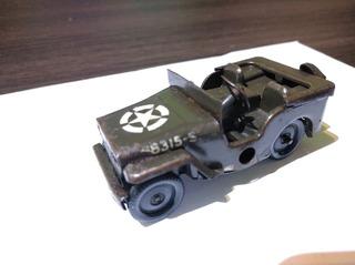 Antiguo Juguete Triang Minc Toys Jeep Cuerda