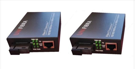 Unifibra Conversor De Mídia Gigabit 20 Km - 1 Par A/b