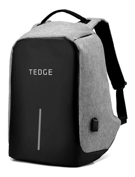 Mochila Anti Furto - Tedge - Para Notebook 15.6 Com Entrada Usb 35 L