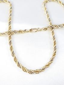 Cordão Baiano Trançado Ou Torcido Nas Três Cores De Ouro 18k