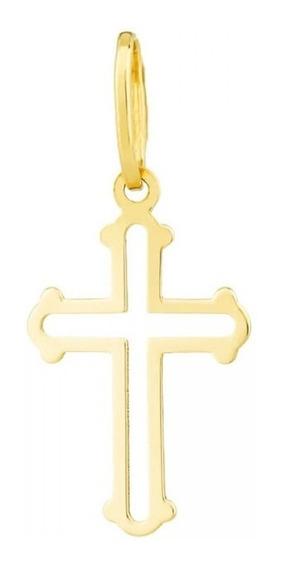 Pingente Cruz Crucifixo M Em Ouro 18k