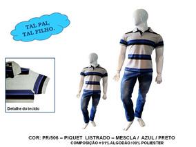 Kit 02 Un Tal Pai Tal Filho Camiseta Camisa Polo Piquet