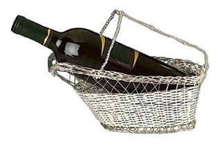 Bañado En Plata Botella De Vino Cuna - Caddy O De Vino Pour
