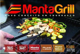 4 Manta Grill Teflon Churrasco Lanche 40x33 Cm.