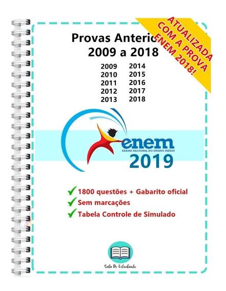 Enem 2019 Provas Anteriores 2009 A 2018 + Gabarito Oficial