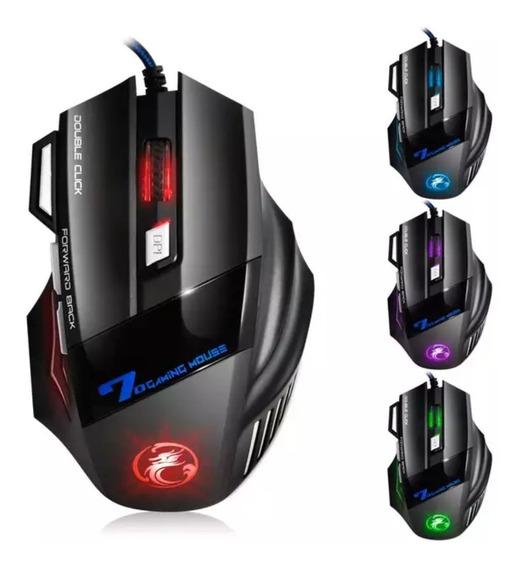Mouse Gamer Led X7 3200 Dpi 7 Botões Mouse Com Fio Usb