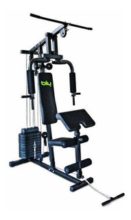 Maquina Home Gym Multifuncional Blu Fit Fitness Pesas Discos