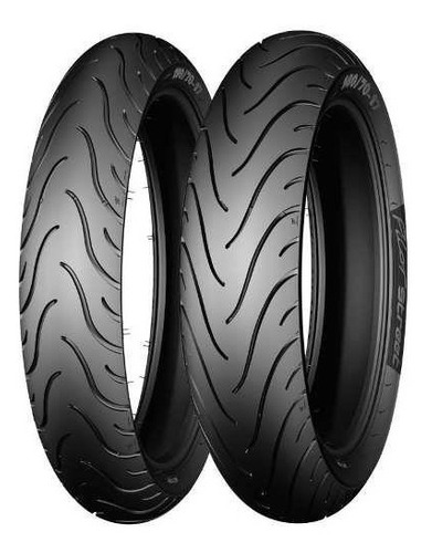 Kit Cubiertas Michelin Pilot Street 80 100 14 + 250 17 - Sti