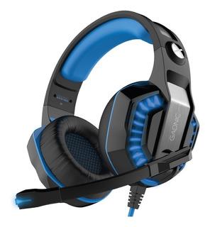 Auricular Gamer Gadnic Pro Ps4 Luces+adaptador Usb Xbox Mic