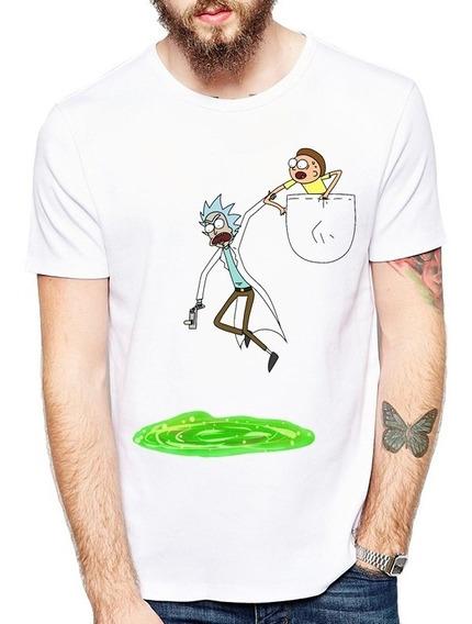 Novidade Camiseta Camisa Desenho Rick And Morty