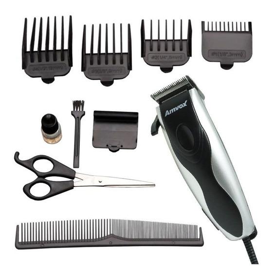 Máquina Cortar Cabelo Aparar Pezinho Barba Elétrica 4 Pentes