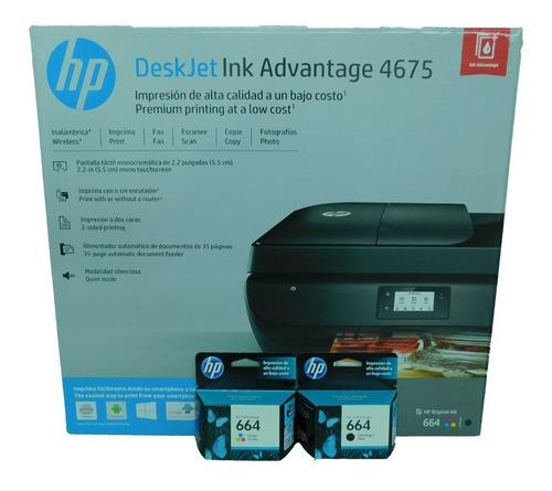 Combo Impresora Hp 4675 Y Cartuchos 664 Negro Y Color Extra
