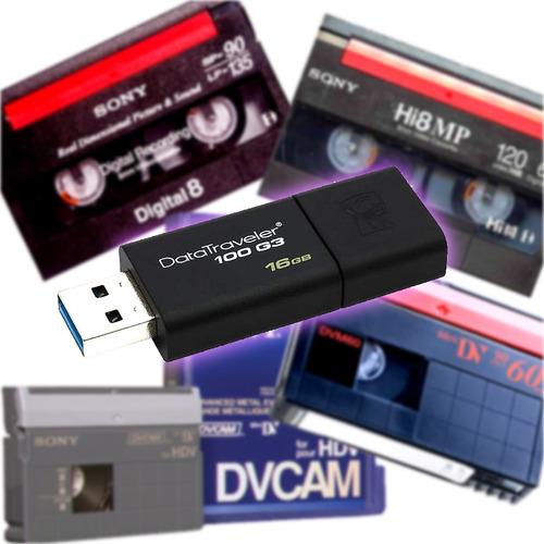 Betacam - Dv Cam - Hi 8 - Digi 8 - Vhs A Dvd O Pen Drive