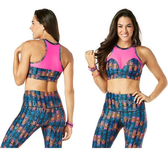 Zumba Wear Top Red Music Mas Colores - Gymtonic