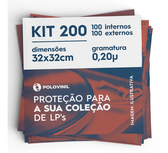 Vinil Lp 200 Plasticos 100 Extra Grosso 0.20 + 100 Internos