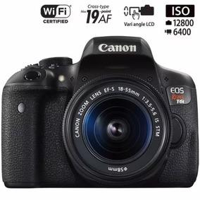 Canon T6i Kit Premium 18-55 Stm E 55-250mm Stm