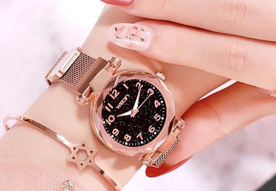 Relógio Feminino Pulseira Magnética - Weon