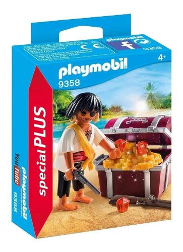 Playmobil Pirata Con Cofre Del Tesoro 9358 Original Edu Full