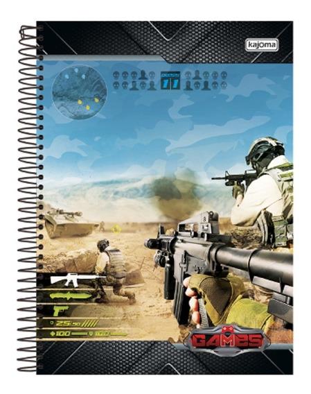 Caderno Games 20 Matérias Com 400 Folhas