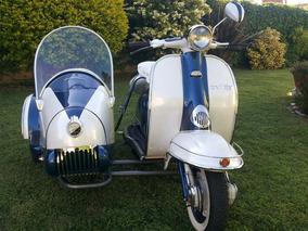 Siambretta Tv 175 De Lujo Con Sidecar 1964