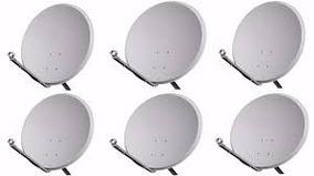 Kit 6 Antenas 60 Cm Completas Com Lnb Duplo Frete Grátis !!!