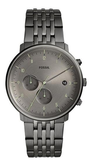 Relógio Fossil Masculino Aço Grafite Original Fs5490/1fn