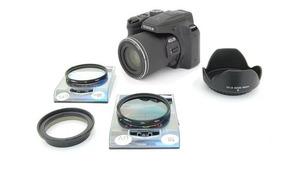 Kit Fuji Sl1000 S9400 Anel Adaptador Uv + Cpl + Parasol
