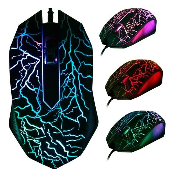Mouse 3200 Dpi Led 3 Botões 3d Usb Wired Gaming (usb)