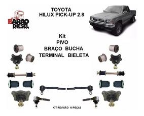Kit Pivo Terminal Braco Bucha Hilux Pickup 2.8 4x4 96 Ate 04