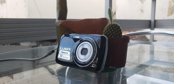 Câmera Panasonic Lumix 12.1mp (com Case E Cabos)
