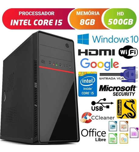 Computador Intel Core I5 3.2ghz Com Hdmi 8gb Hd 500gb Dvd