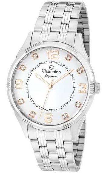 Relógio Champion Feminino Prata Cn25814q Orignal