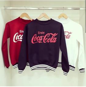 52e49766df Blusa De Frio Coca Cola Super Quentinha E Veste Super Bem