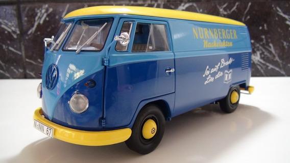 Vw Kombi T1 Furgao Azul/amarelo Esc 1:18 Schuco (nurnberger)