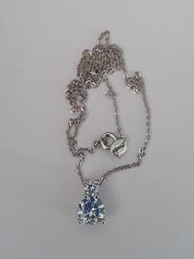 Prata 925 Colar Ponto De Luz Diamantes Sintéticos Brilhantes